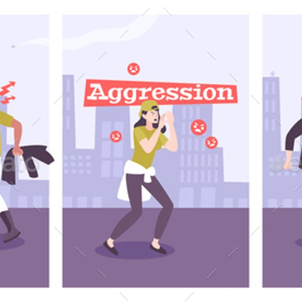 Aggression Tyranny Anger Flat Compositions