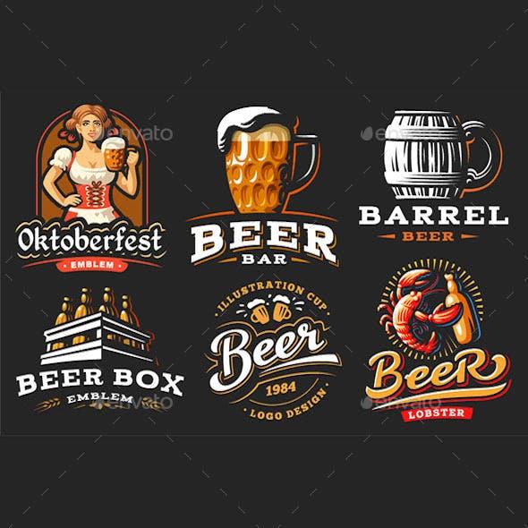 Set of Beer Emblems