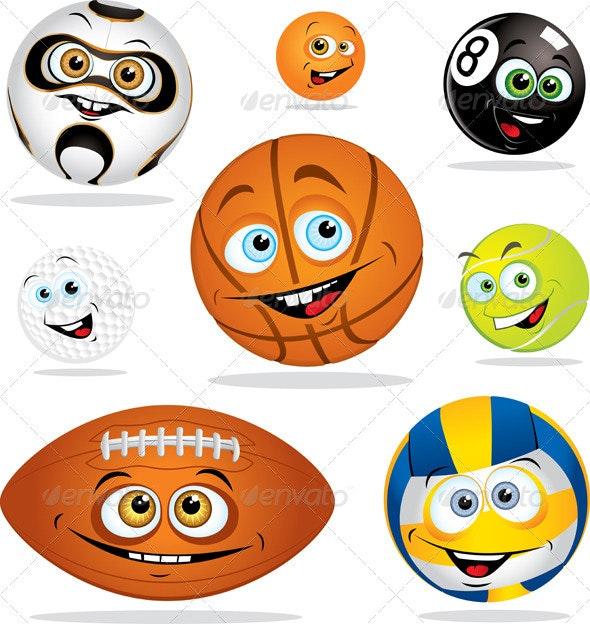 Funny balls - Characters Vectors