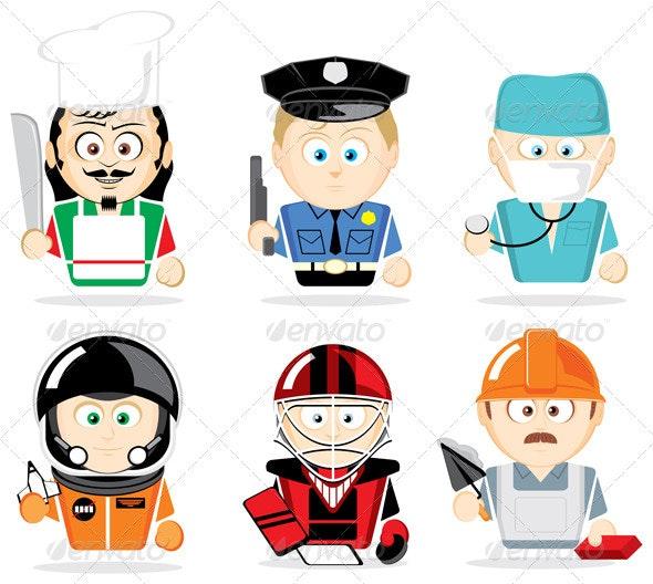 Famous professions - Characters Vectors