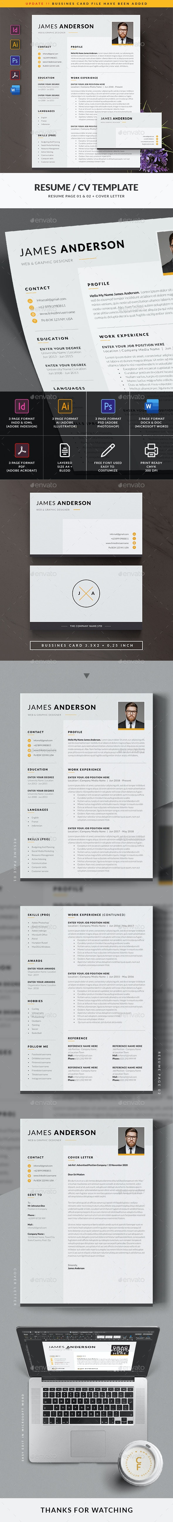 Simple Resume / CV Template - Resumes Stationery