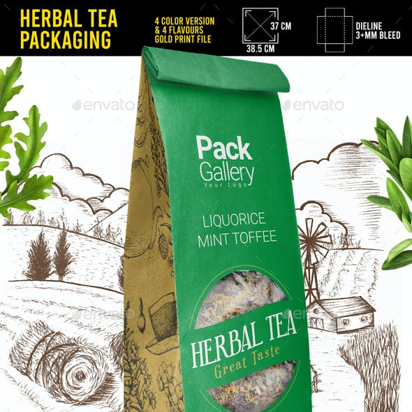 Herbal Infusion and Tea Packaging Template