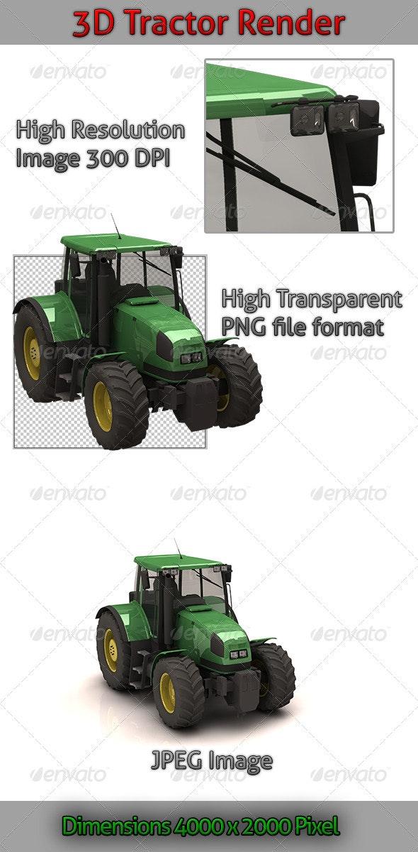 3D Tractor Render - 3D Renders Graphics
