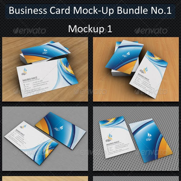 Business Card Mock-Up Bundle No.1