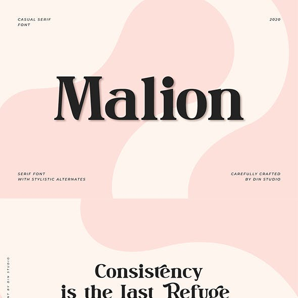 Malion - Modern Serif Font