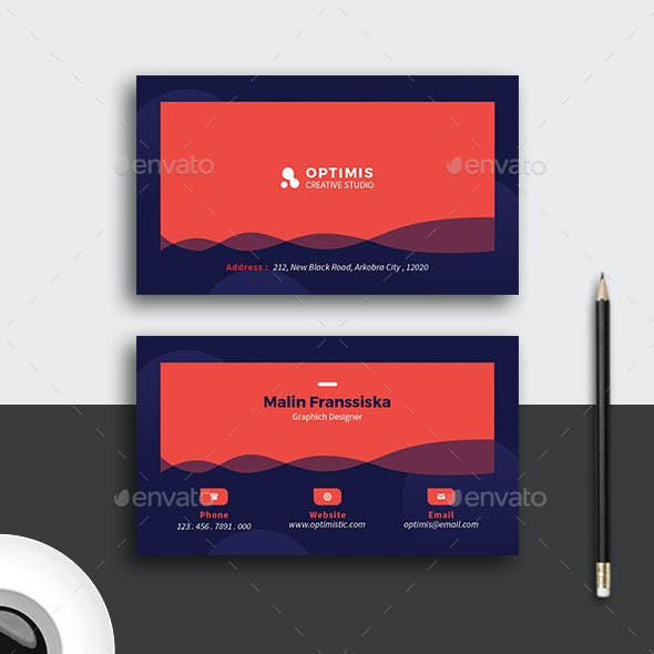 Blue Red Business Card