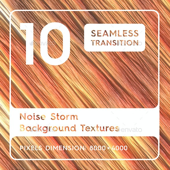 10 Noise Storm Background Textures. Seamless Transition.