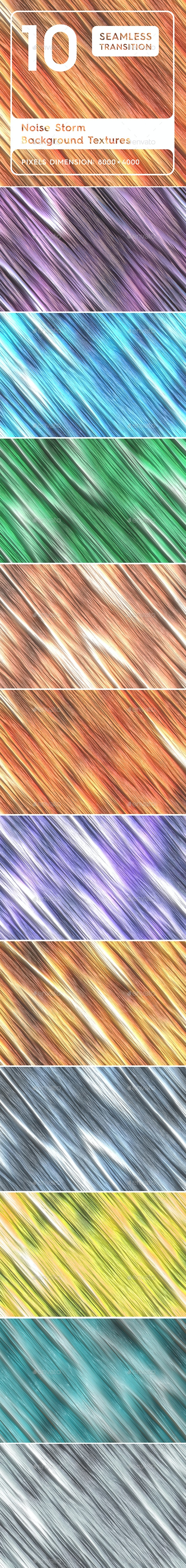 10 Noise Storm Background Textures. Seamless Transition. - Abstract Backgrounds