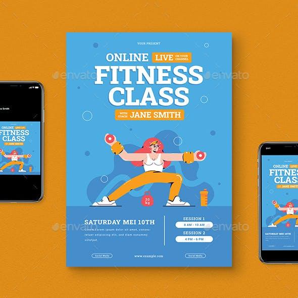 Online Fitness Flyer Pack