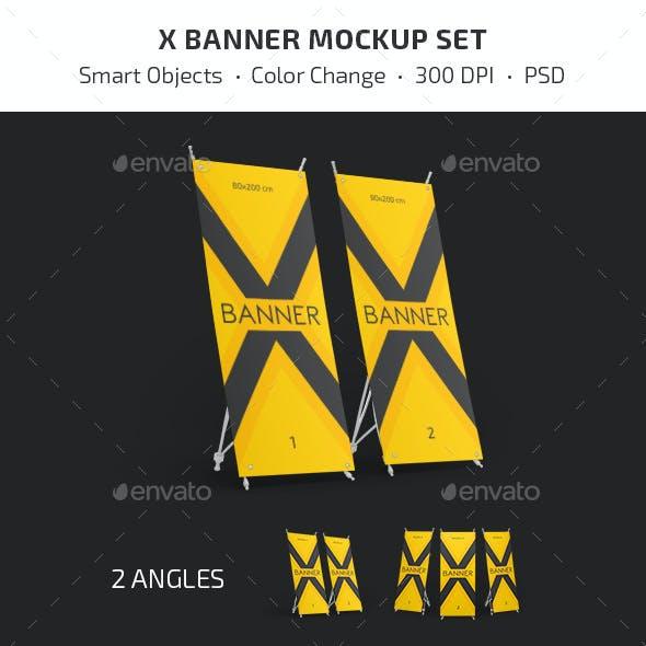 X Banner Mockup Set