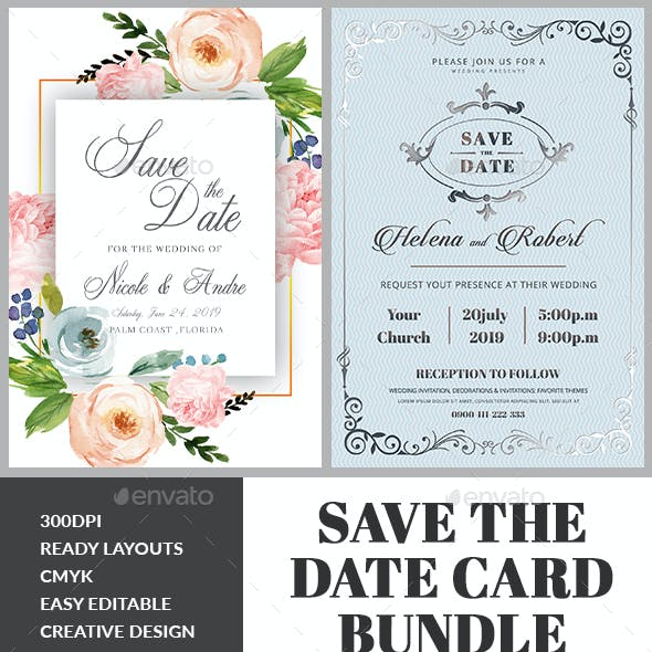 Wedding Invitation Bundle Templates