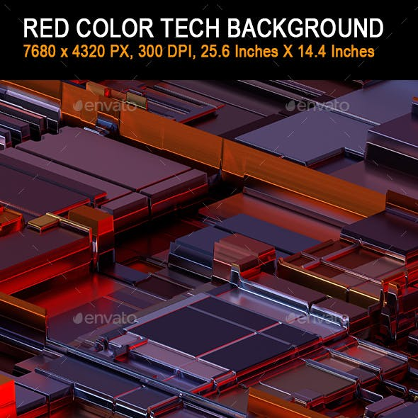 Red Color Tech Background