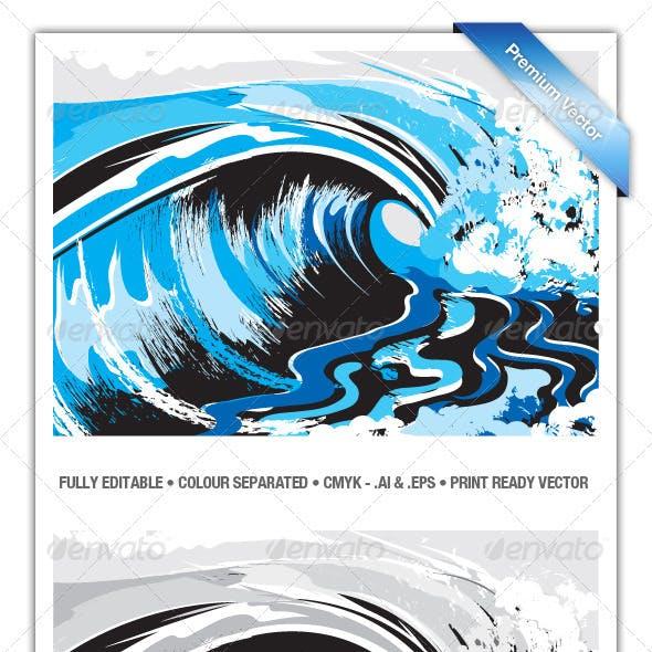 Ocean Surf Breaking Waves - V3