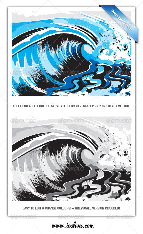 Ocean Surf Breaking Waves - V3 - Nature Conceptual