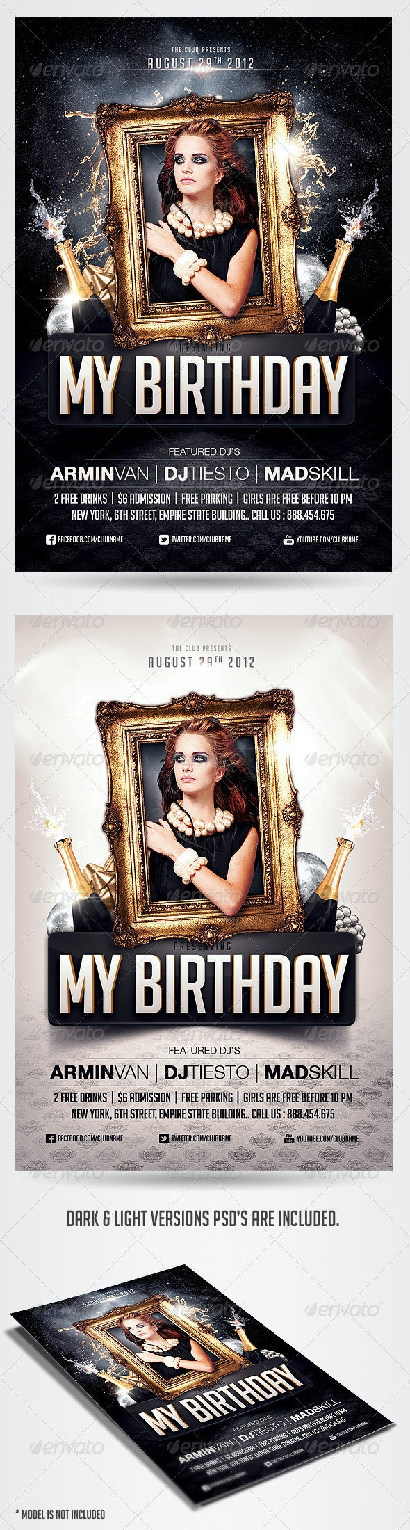 Birthday Party Invitation Flyer Template - Clubs & Parties Events