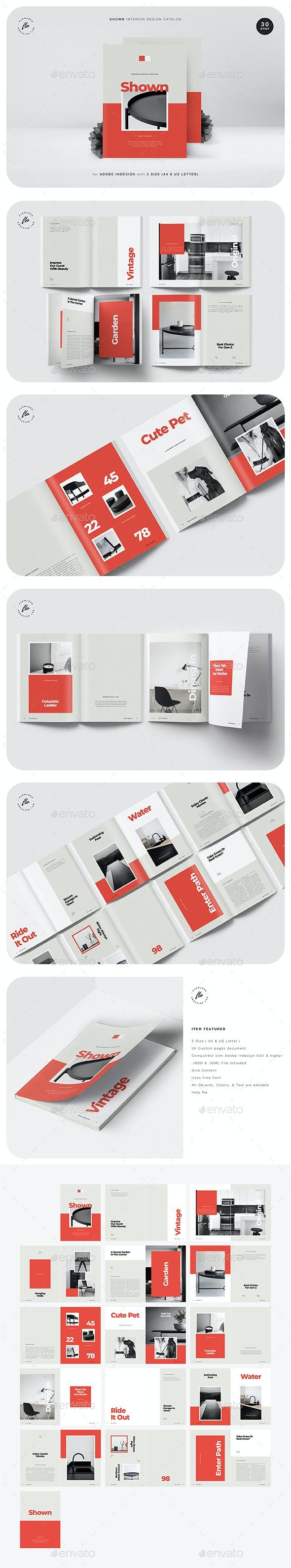 Shown Interior Design Catalog - Magazines Print Templates