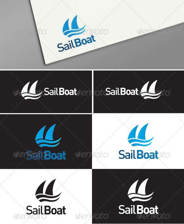 Sailboat logo templates - Symbols Logo Templates
