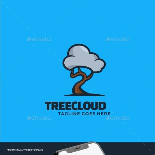 Tree Simple Mascot Logo Template