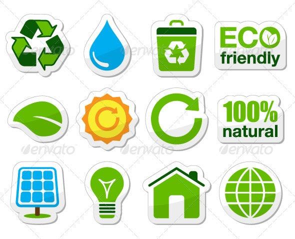 Eco green buttons - Web Elements Vectors