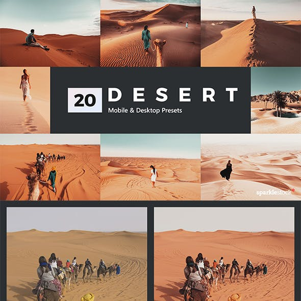 20 Desert Lightroom Presets and LUTs
