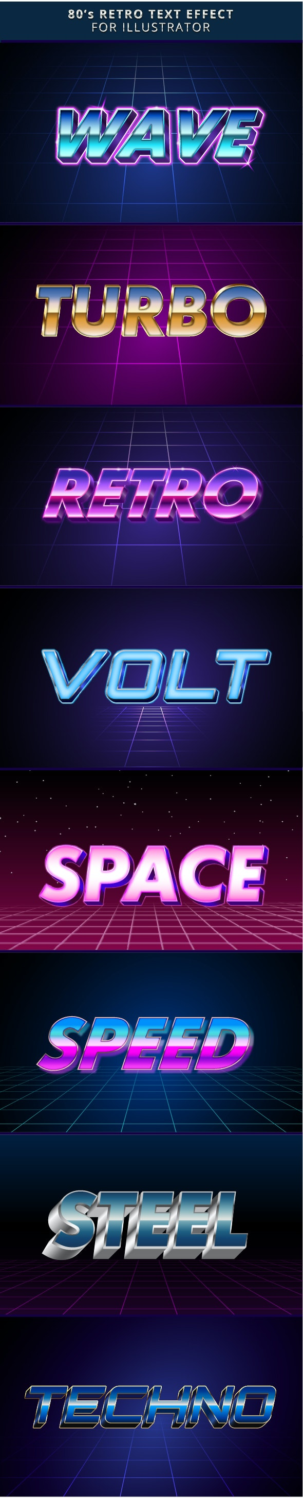 Retro 80s Text Effects - Text Effects Styles