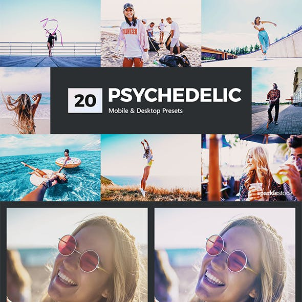 20 Psychedelic Lightroom Presets and LUTs