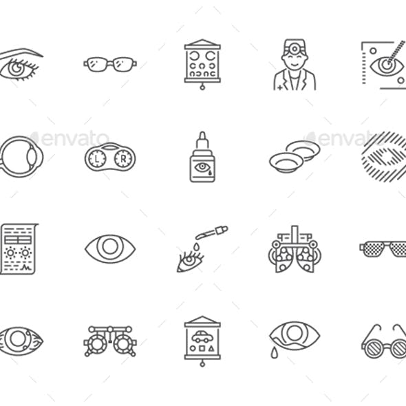 Ophthalmology Line Icons