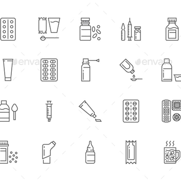 Medicines Line Icons