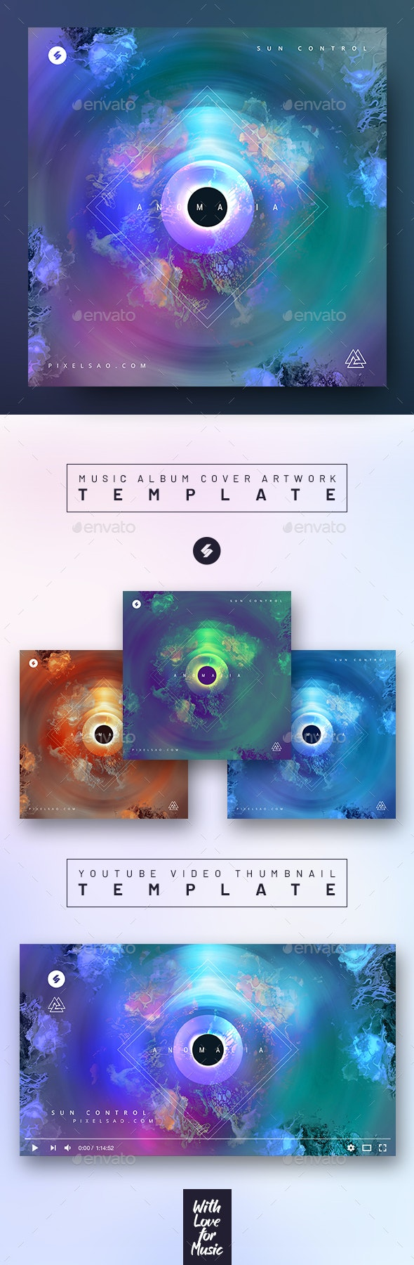 Anomalia – Music Album Cover Artwork / Video Thumbnail Template - Miscellaneous Social Media