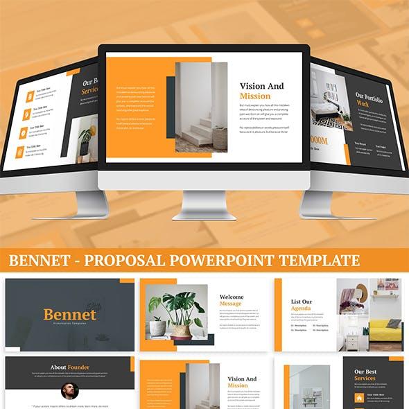 Bennet - Proposal Powerpoint Template