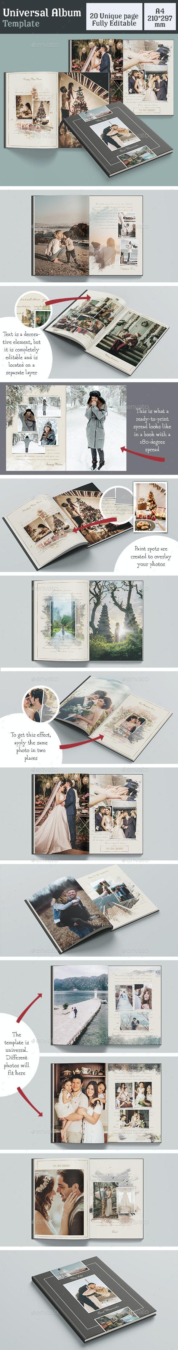 Universal Album Template - Photo Albums Print Templates