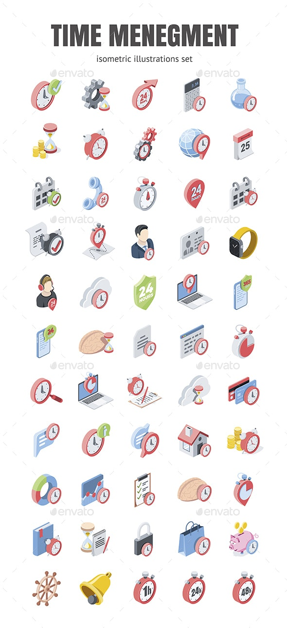 Time management set - Business Icons