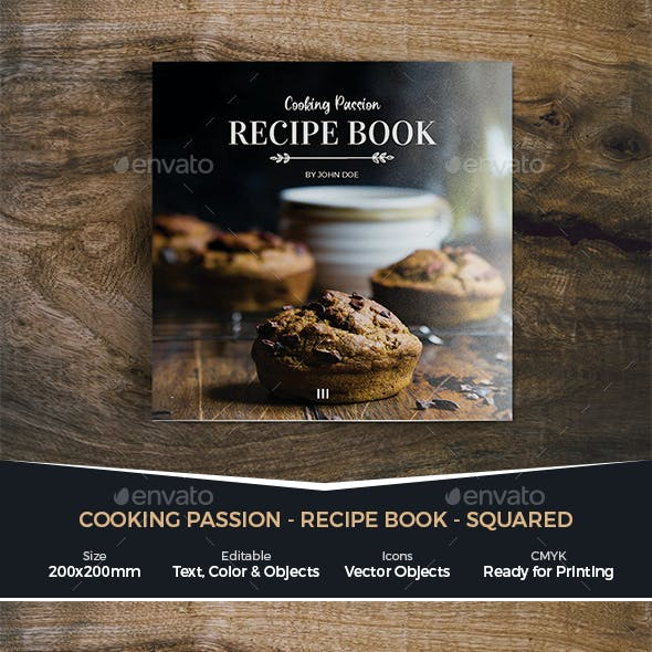 Cooking Passion / Recipe Book - Squared