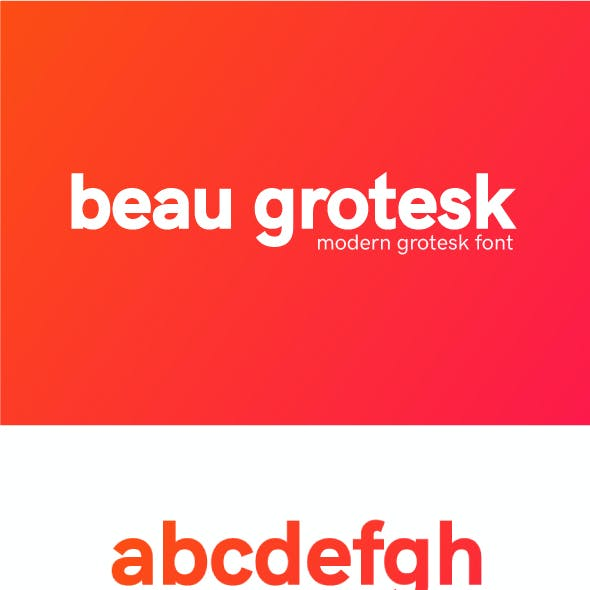 Beau Grotesk Font