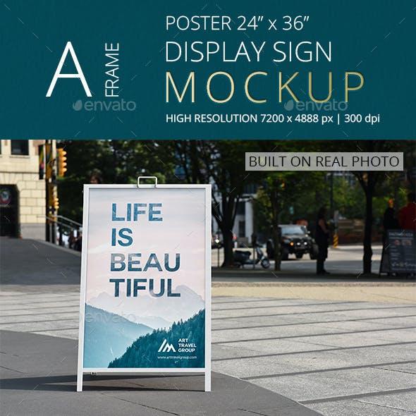 A-Frame Poster Display Sign Mockup/ Vol 4.0