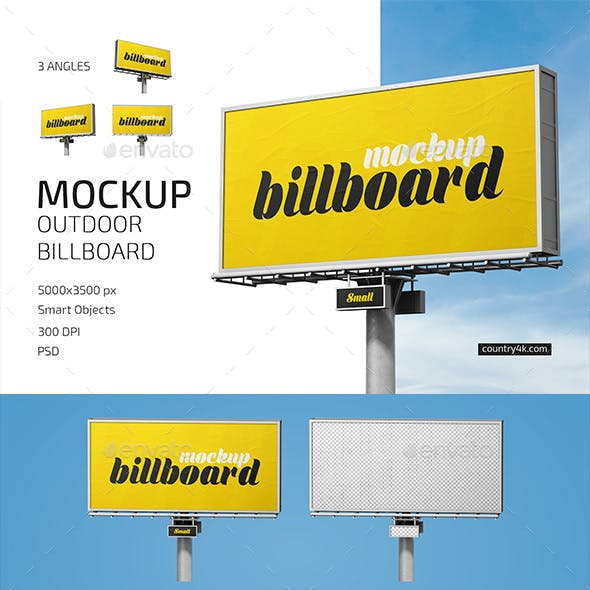 Outdoor Billboard Mockup Set
