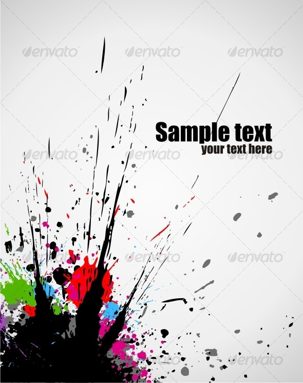 Color paint splashes background - Backgrounds Business