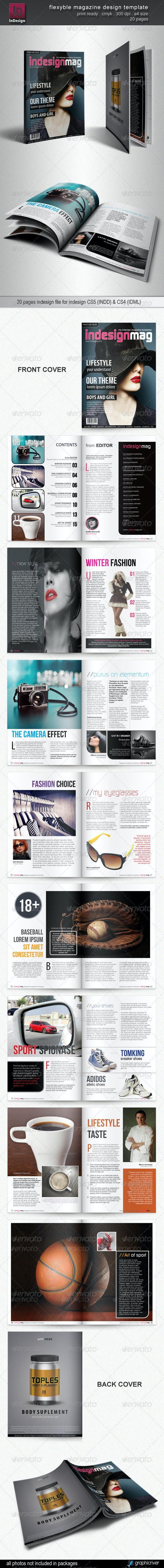 Flexyble Magazine Design - Magazines Print Templates