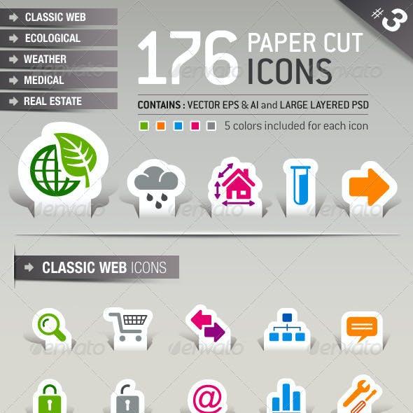 176 Papercut Icons