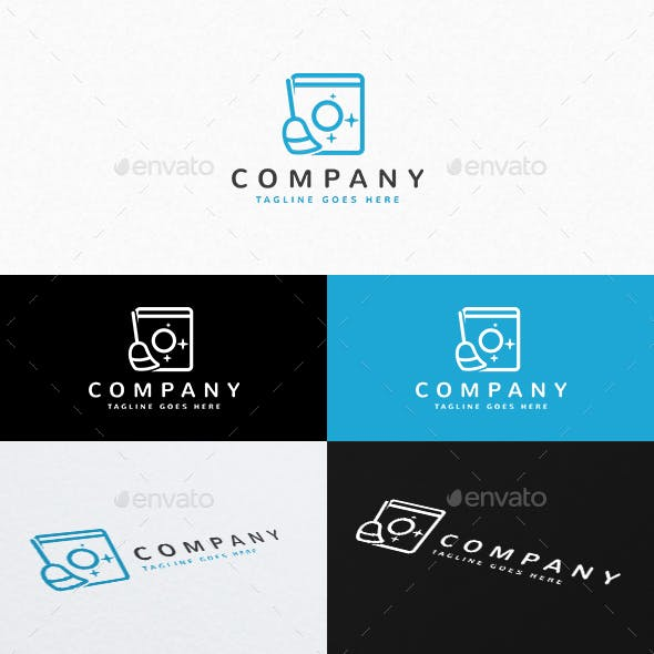 Laundry and Cleaning Logo