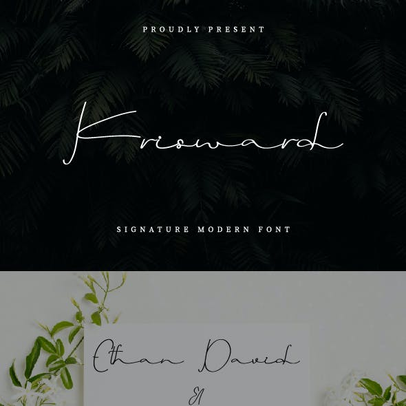 Krisward Signature Font