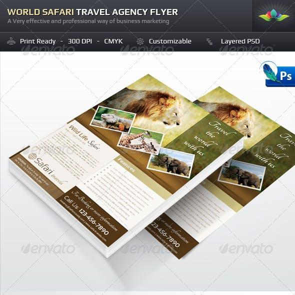World Safari Travel Agency Flyer