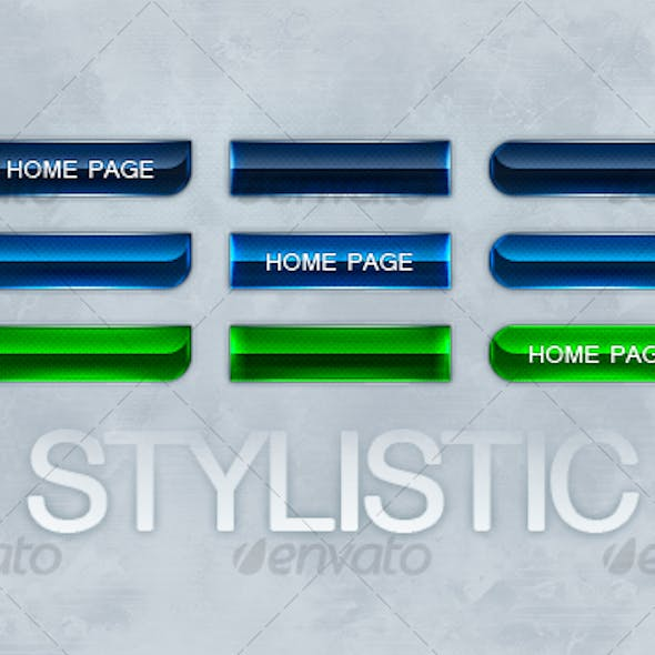 Stylistic Buttons - 3 Styles/Colors