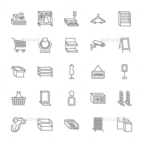 Retail Line Icons