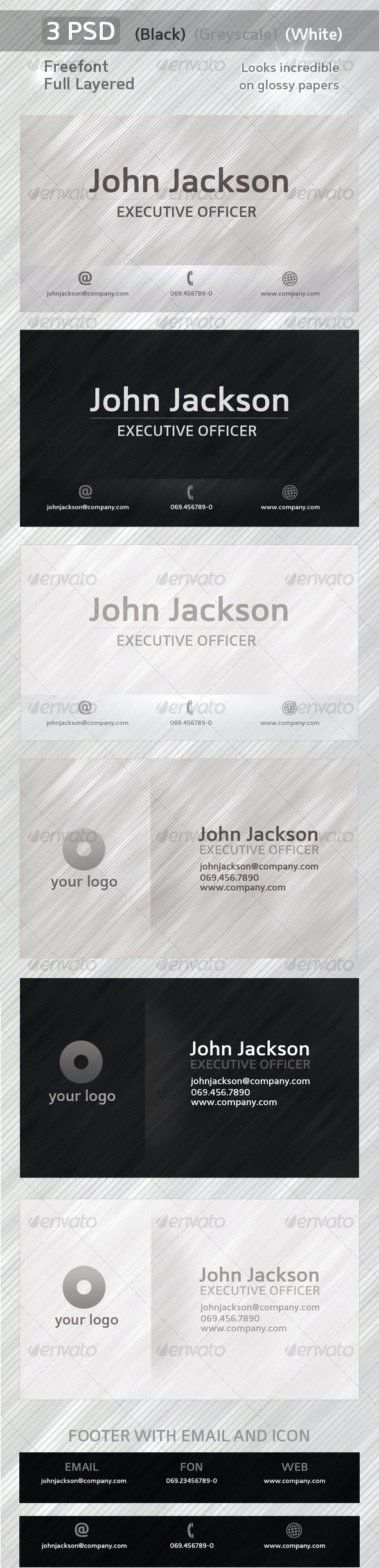 Business-Card-Glow - Corporate Business Cards