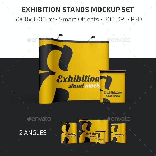 Exhibition Stands Mockup Set