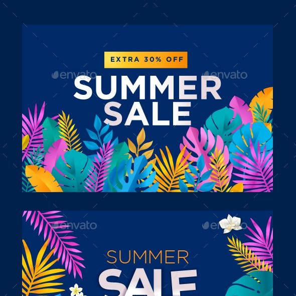 Summer Sale Banners Collection
