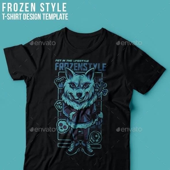Frozen Style T-Shirt Design