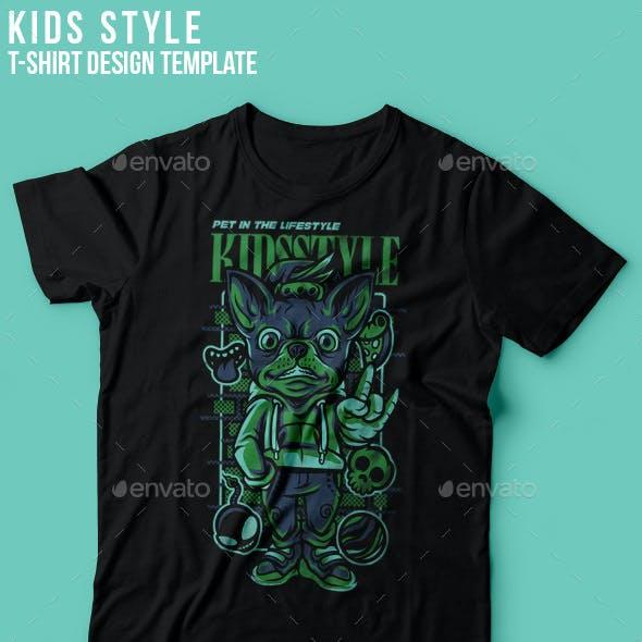 Kids Style T-Shirt Design