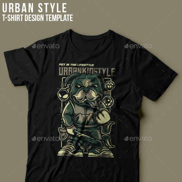 Urban Kid Style T-Shirt Design